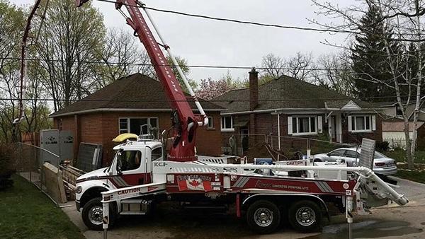 混凝土泵车施工案例展示